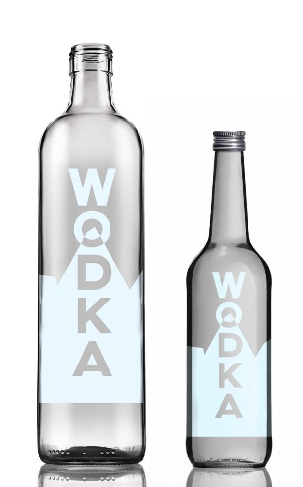 Wodka, Design basierend auf eisigen Gletschern.